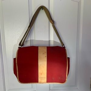 Red Coach computer bag